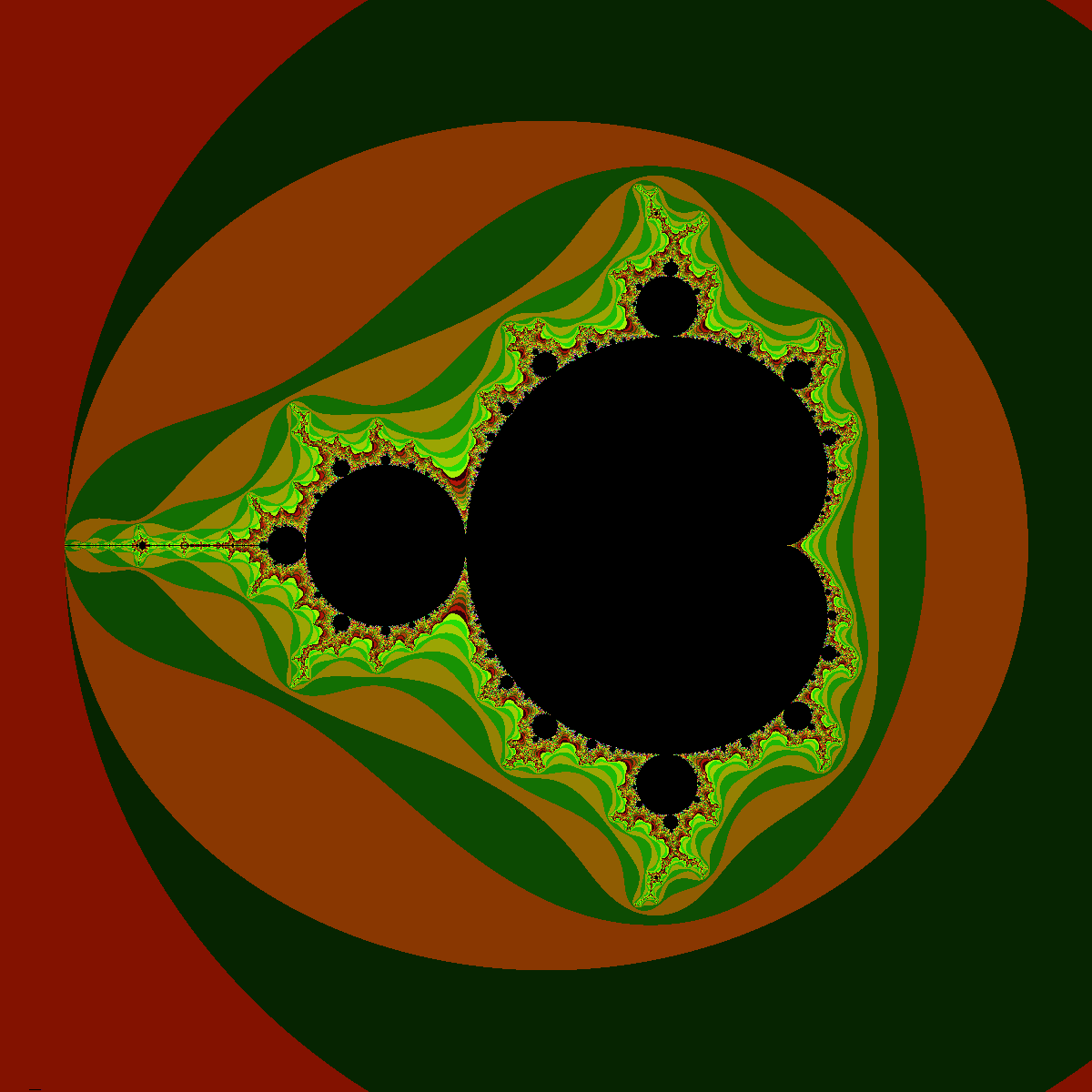 Mandelbrot set full size color band effect