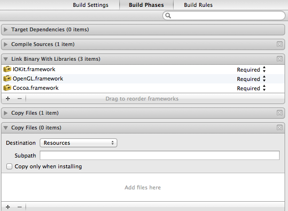 Xcode add assets to the build directory 2