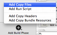 Xcode add assets to the build directory 1