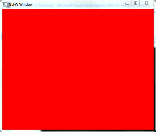 OpenGL window filled with red