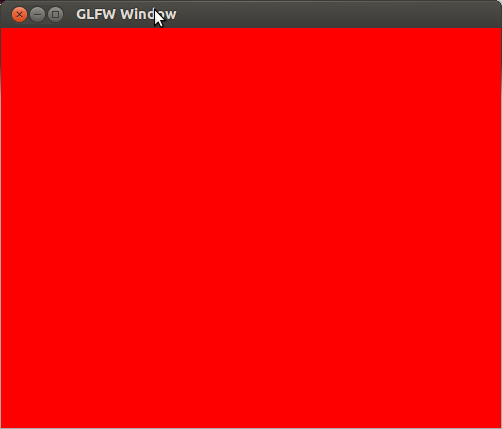 OpenGL window Linux with red background