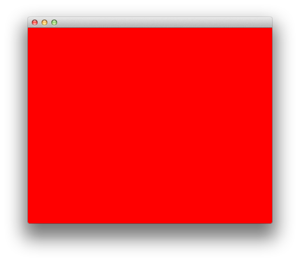 OS X OpenGL window filled with red