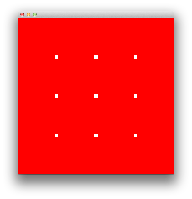 OpenGL white points on a red background