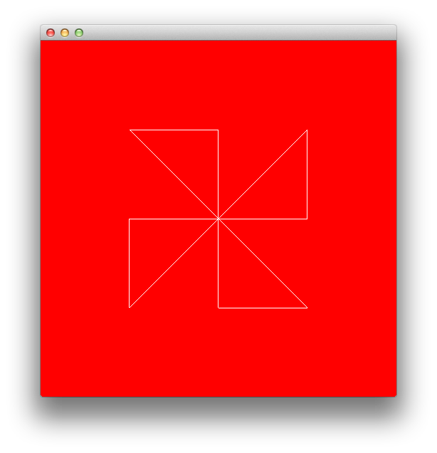 OpenGL white lines on a red background