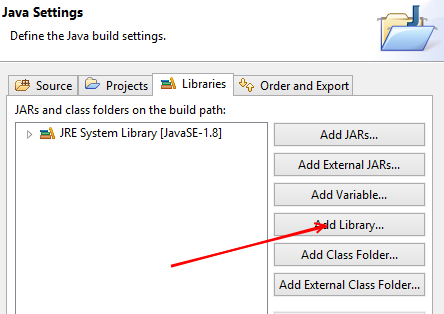 Eclipse new Java project add library