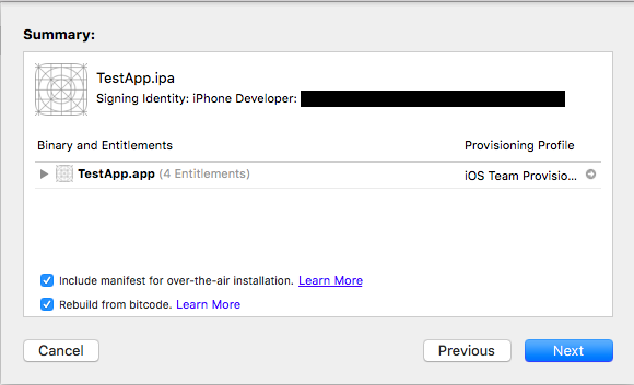How to share a compiled iOS app ipa with your users for testing