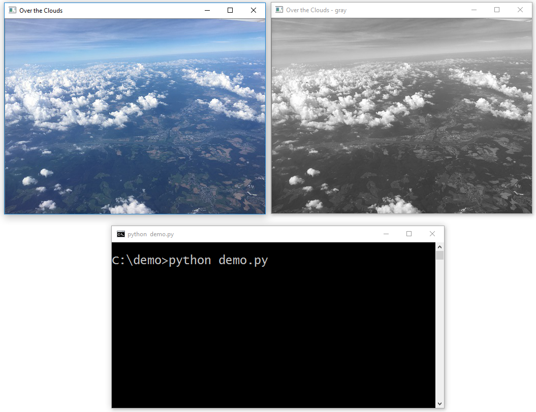 Python 3 OpenCV 3 test - convert image to gray