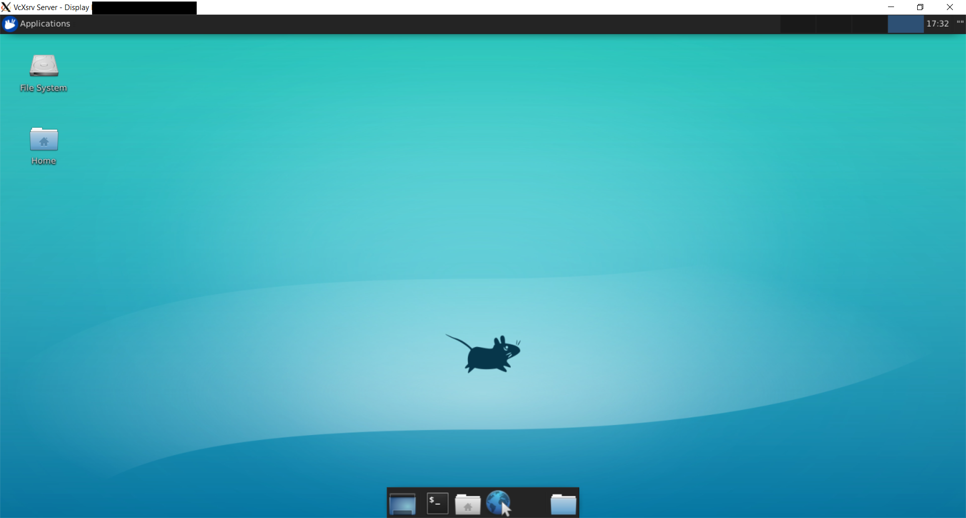 Xfce 4 running under Windows Subsystem for Linux