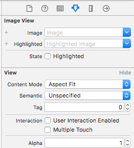 Set image content mode to aspect fit