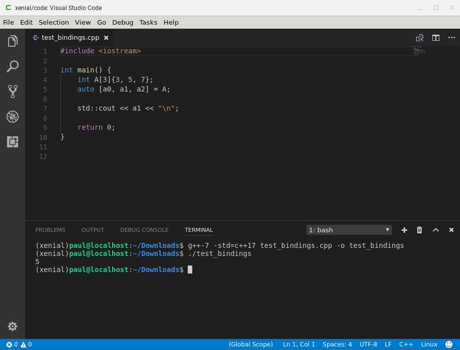 C++ local development on a Chromebook or Chrome OS device | Solarian