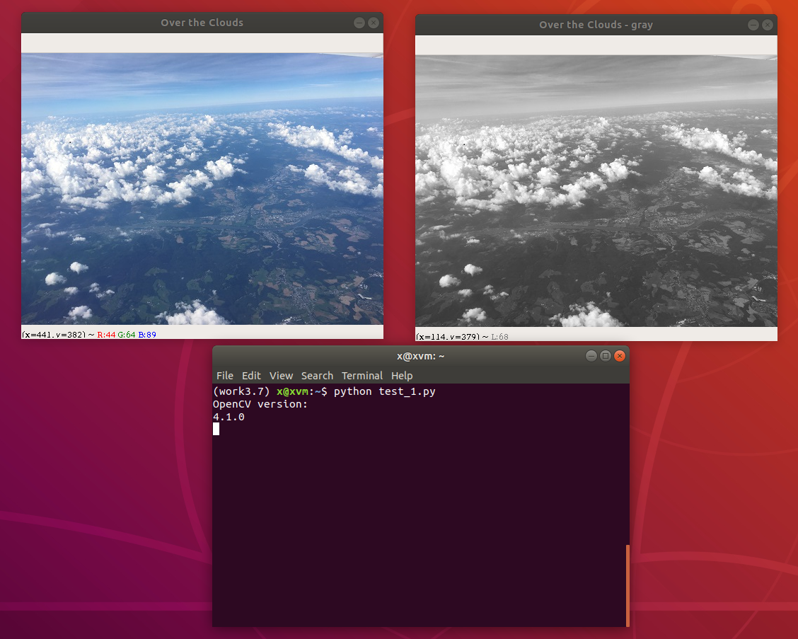 Python 3 OpenCV 3 test on Ubuntu Linux - convert image to gray