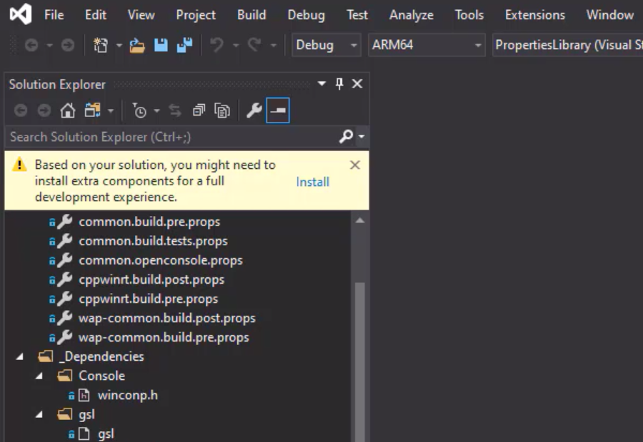 Building the Windows Terminal application with Visual Studio