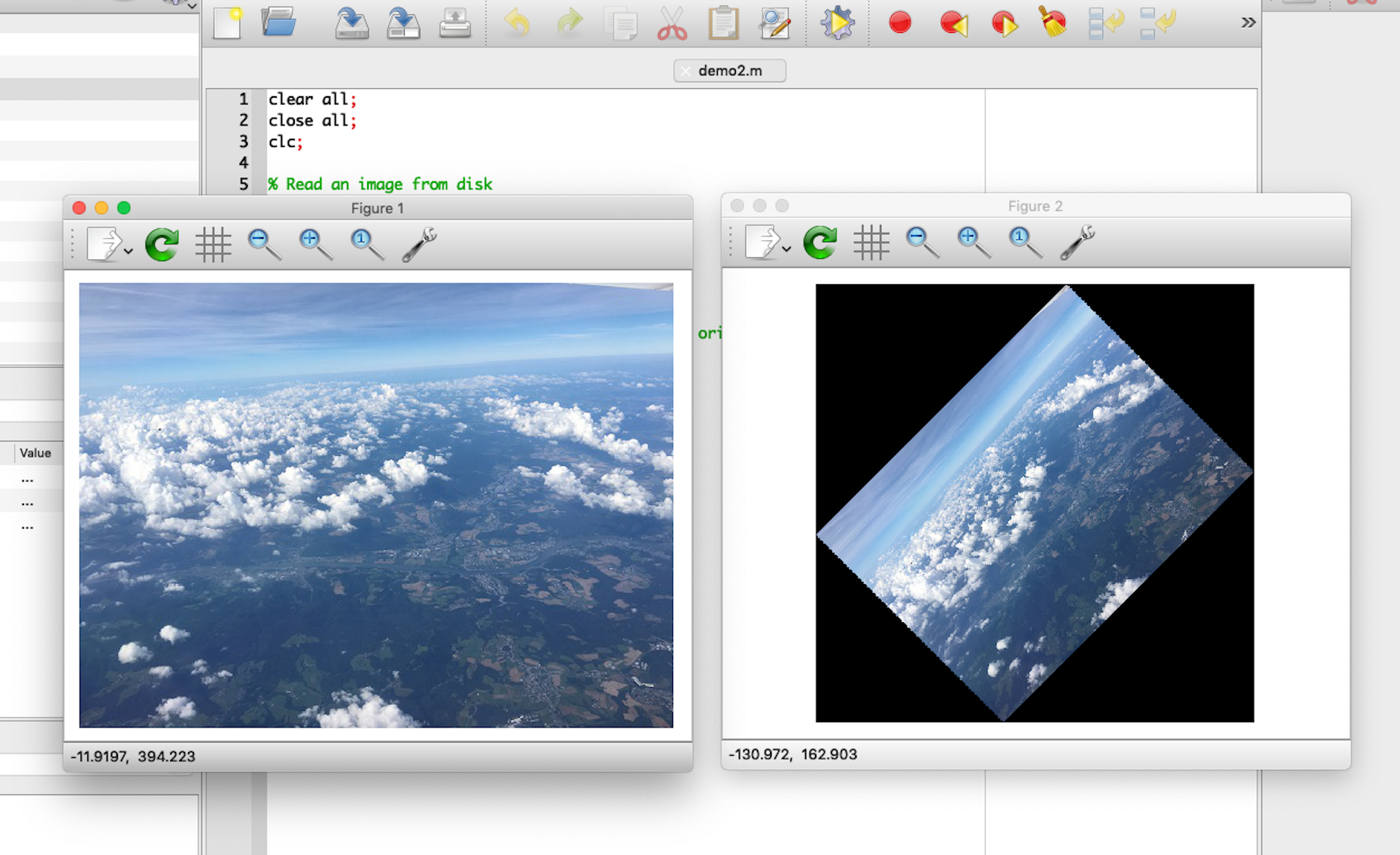 macOS Octave 4.4.1 image processing